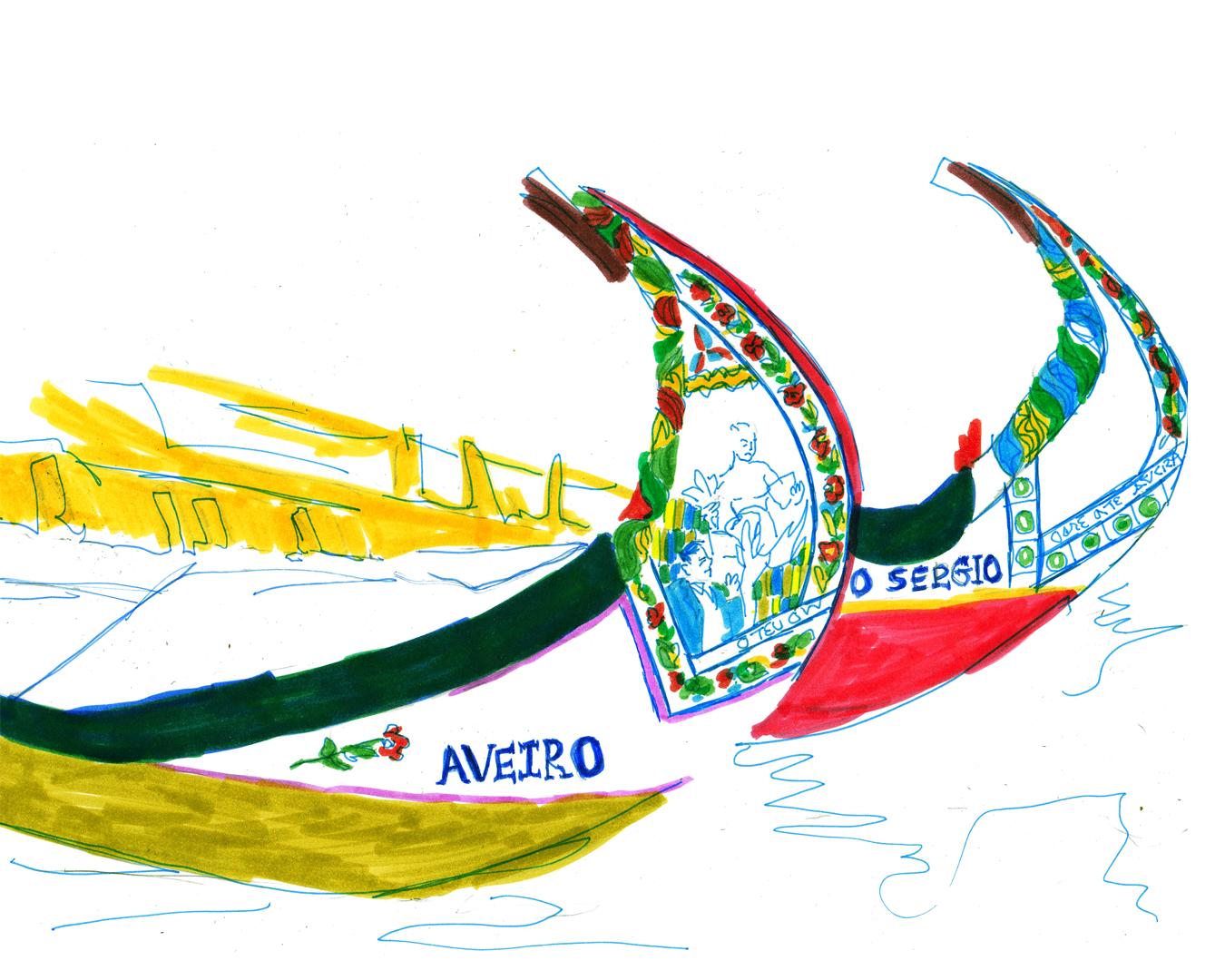 Aveiro Moliceiro boats Portugal