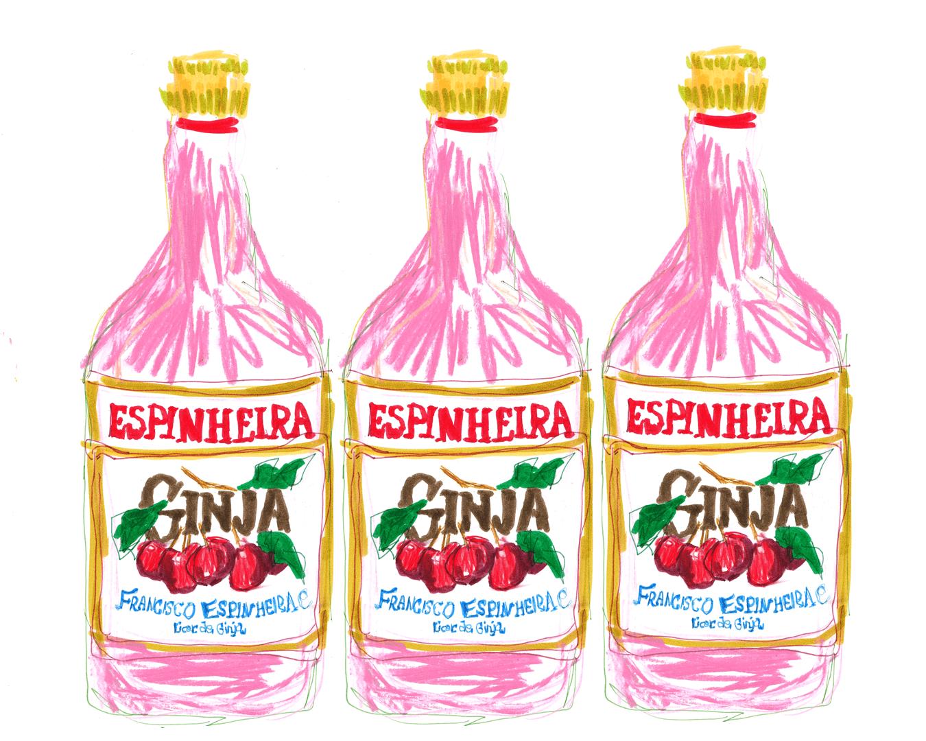 Ginjinha obidos illustration by Mairead Finlay